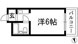 ダイドーメゾン門戸2[4階]の間取り