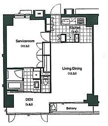 レジデンス白金パークフロント[8階]の間取り