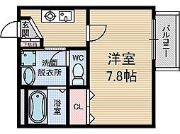 アンプルール茨木[1階]の間取り