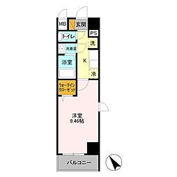 LINK KASUKABE 7階1Kの間取り
