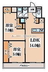 PSハイツ[2階]の間取り