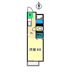 隅田ハイツ[1階]の間取り