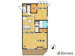(仮)D-room新生町[3階]の間取り