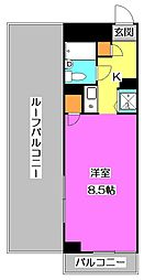 エルニド久米川[4階]の間取り