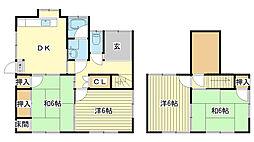 [一戸建] 兵庫県姫路市新在家3丁目 の賃貸【兵庫県 / 姫路市】の間取り