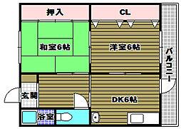 清原マンション[2階]の間取り