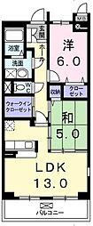 埼玉県新座市野寺4丁目の賃貸マンションの間取り
