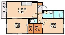 ウィルモア東洋台[1階]の間取り