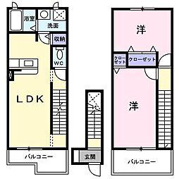 エクセラン セードル[2階]の間取り