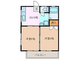 三重県鈴鹿市十宮3丁目の賃貸マンションの間取り