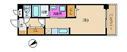 兵庫県姫路市飾磨区今在家3丁目の賃貸マンションの間取り