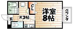 ハッピネス尾倉[2階]の間取り