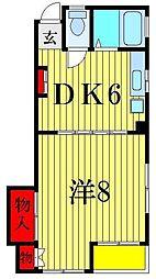 フラワーハイム[4階]の間取り