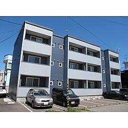 北海道函館市宝来町の賃貸アパートの外観