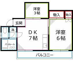 第1畑山コーポ[3階]の間取り