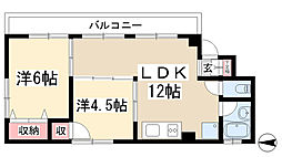 愛知県長久手市作田2丁目の賃貸マンションの間取り