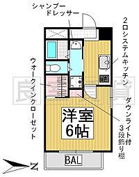 愛知県名古屋市熱田区旗屋1丁目の賃貸マンションの間取り
