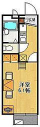レオパレスハグレー トマツ2[201号室]の間取り