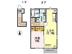 グランシャリオスッド[2階]の間取り