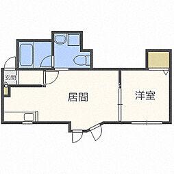 J'sコート東札幌[2階]の間取り