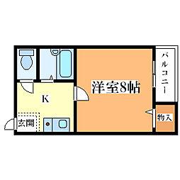 香川ハイツ[204号室]の間取り