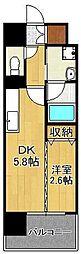 デザイナーズ・ザ・レトロ 9階1DKの間取り