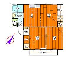 メゾンドールA[1階]の間取り