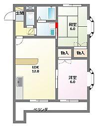 フォレストハウス[3A号室]の間取り