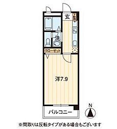 フィネス昭和町II[4階]の間取り