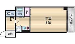 ビスト江戸堀[5階]の間取り