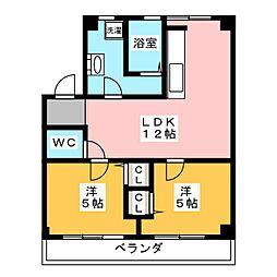 ピアン東山[1階]の間取り