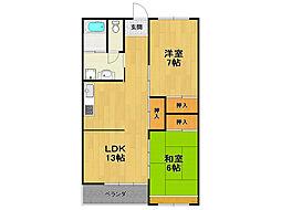 福田マンション[4階]の間取り