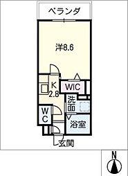 メゾン加納栄町通E 1階1SKの間取り