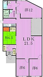 [一戸建] 千葉県松戸市二十世紀が丘戸山町 の賃貸【/】の間取り