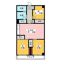メゾンドール浜松[4階]の間取り