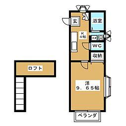 ソレイユパルクIII番館[1階]の間取り