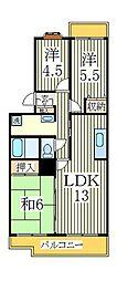 千葉県流山市野々下3丁目の賃貸マンションの間取り
