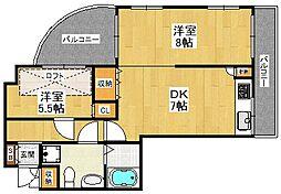武庫之荘フレックス3[305号室]の間取り