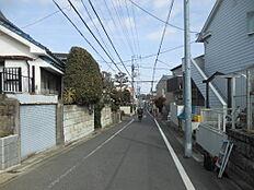 前面道路:閑静な住宅街です。