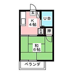藤原ハイツ[2階]の間取り