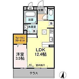 (仮)D−room新生町[102号室]の間取り