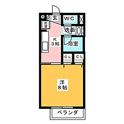 Surplus One幡山[1階]の間取り