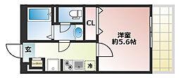 兵庫県神戸市中央区野崎通7丁目の賃貸アパートの間取り