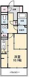 JR高徳線 栗林公園北口駅 徒歩6分の賃貸マンション 4階1Kの間取り