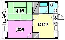 スペース21[402 号室号室]の間取り