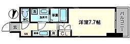 サムティ阿波座ベルシア 14階1Kの間取り
