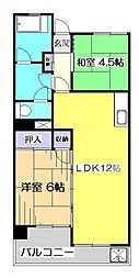 アメニティコウヤマ第2ガーデン[3階]の間取り