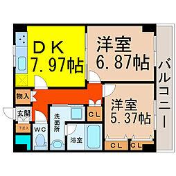 愛知県名古屋市中村区太閤5丁目の賃貸マンションの間取り