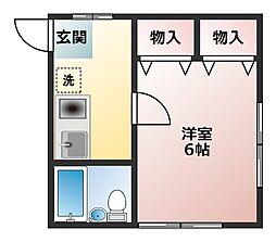 メゾン藤田[1階]の間取り