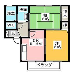 ハウゼ・K C[2階]の間取り